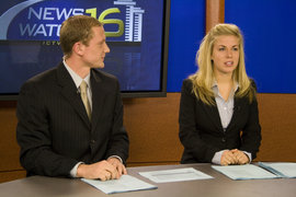 Students work on a production of Newswatch.