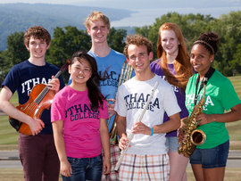 Summer Music Academy students pose with instruments