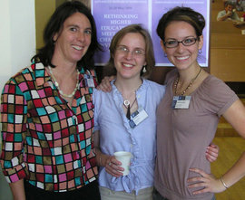 Susan Allen-Gil with Lia Stelljes '08 and Sarah Brylinsky '08 in Ukraine, summer 2008