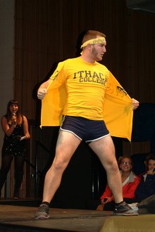 Taylor Palmer, a contestant for Mr. Ithaca. Photo by Lisa Laffend '17