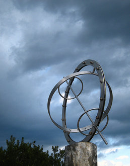 The Armillary Sphere Near the Park School Entrance