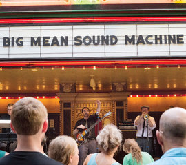 The Big Mean Sound Machine played a free concert at the State Theatre of Ithaca last summer.