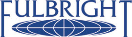 The Fulbright logo, with blue text above a globe
