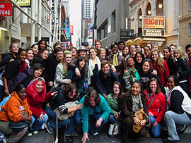 "The HOME community traveled to NYC to see ""In the Heights"" on Broadway."
