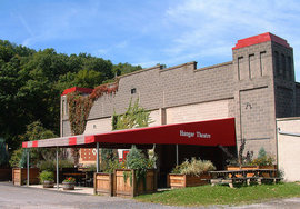 The Hangar Theatre is a non profit, professional, regional theatre that is open every June - August.