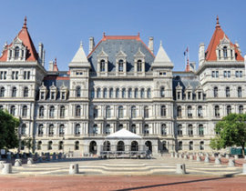 The New York State capitol building in Albany. Photo by Thinkstock