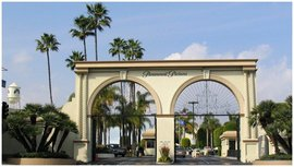 The Paramount Studios Gate greets me every morning before work.