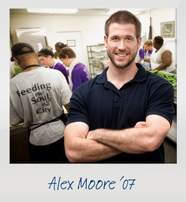 The Ready campaign tells the stories of alumni like Alex Moore, who received preparation at Ithaca College.