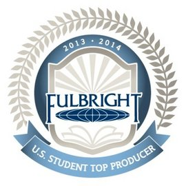 The U.S. Department of State recognized Ithaca College as a top-producing Fulbright institution.