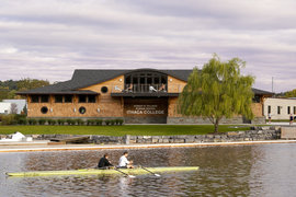 The Ward Romer Boathouse, the heart of the Robert B. Tallman Rowing Center
