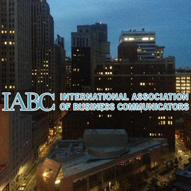 The city of Pittsburgh with the IABC logo