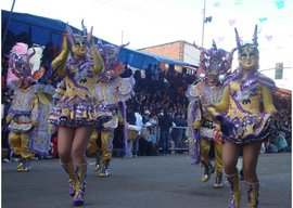 The devils dancing during the Carnival