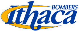 The official Ithaca Bombers logo will be used in lieu of a mascot.