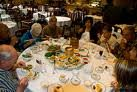 The round tables at a dim sum restaurant