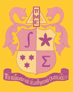 The shield of Pi Mu Epsilon