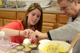Therapeutic Recreation students working with participants