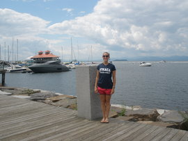 This is a picture of me standing in front of Lake Champlain in Burlington, VT