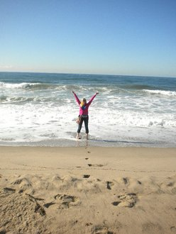 This is me in the Pacific Ocean for my first time in Santa Monica.
