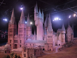 This model of Hogwarts is used for overhead shots in the Harry Potter movies.
