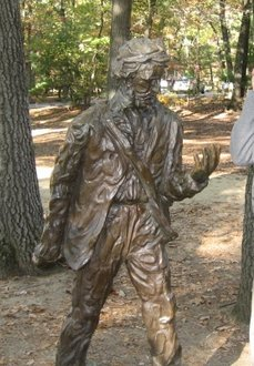 Thoreau statue at Walden Pond State Reservation
