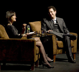 Tony Kushner being interviewed