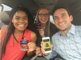 Two students, along with their assistant (me), take over NBC News's Snapchat.