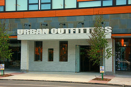 Urban Outfitters in downtown Ithaca