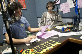 VIC 50 Hour Marathon DJs Adam Girgenti '12  and Mike D'Agostino '11.