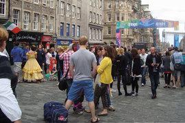 Visitors at the Endinburgh Fringe Festival