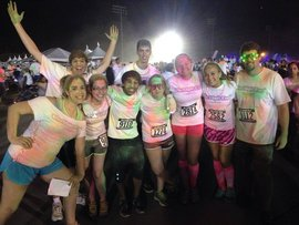 Volunteers at color run