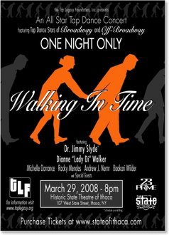 """""""Walking in Time"""" poster"""