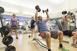 Wellness Clinic offers a variety of cardio and strength training opportunities.