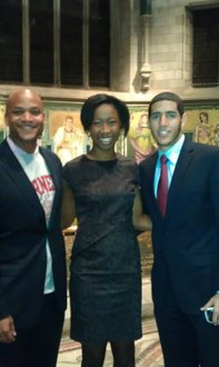 Wes Moore, a Cornell University student and myself after the three of us spoke at Cornell University's Martin Luther King Day.