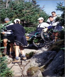 Wheelchair on Hike