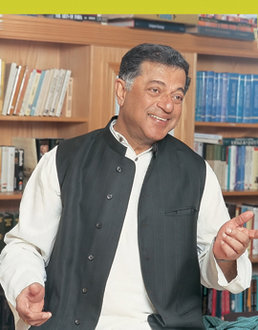 While at IC in October, Girish Karnad visited classes and delivered a public talk on �Colonialism and Indian Theater.�.