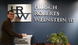 William Sleight in his new position at Hirsch Roberts Weinstein LLP
