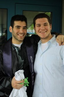 With my brother for his graduation