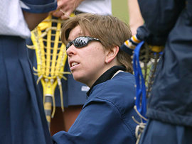 Women's lacrosse head coach Karen Hollands '94
