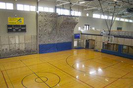 Wood Floor Gym/Climbing Wall