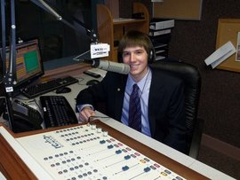 Working at WKXL, a news radio station in Concord, NH, during summer 2011.