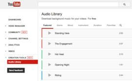 YT audio library