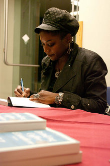 ZZ Packer signs one of her best-selling books.