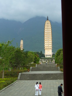a tall and beautiful chinese temple