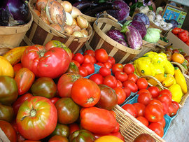 colorful fruits and vegetables from Blue Heron