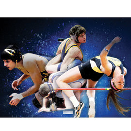 combo photo of athletes