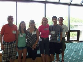 family at orientation
