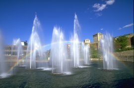 fountains rainbow