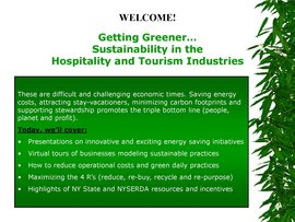 getting greener welcome slide