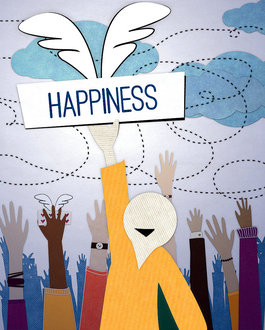 illustration of happiness guy