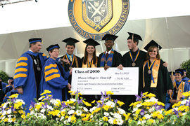 photo of class of 2010 giant check